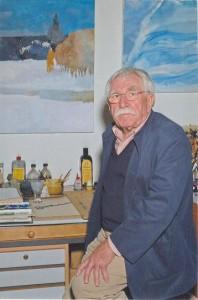 Guy Bardone dans son atelier rue Falguière, Paris