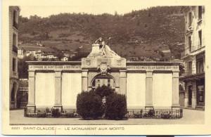 Ancien monument aux morts, boulevard de la République (carte postale, vers 1930)