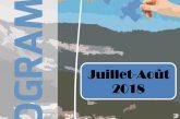 Espace Mosaïque : programme de juillet/août 2018