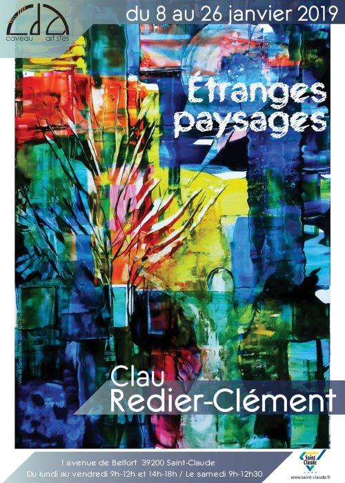 Expo Clau Redier-Clément - Affiche