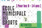 École Municipale des Sports : inscrivez votre enfant pour les vacances de Noël 2019