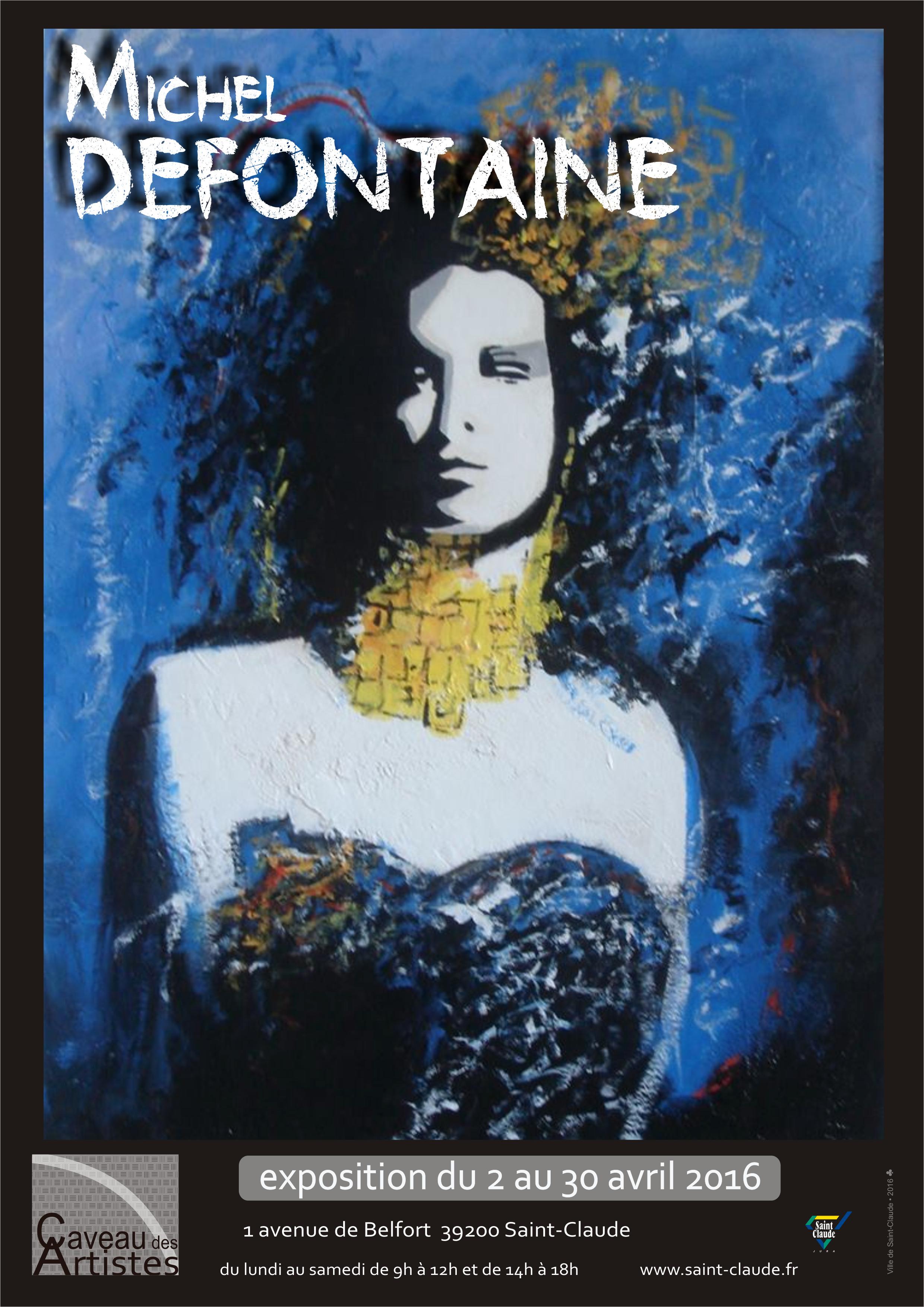 Exposition M. Defontaine - Affiche