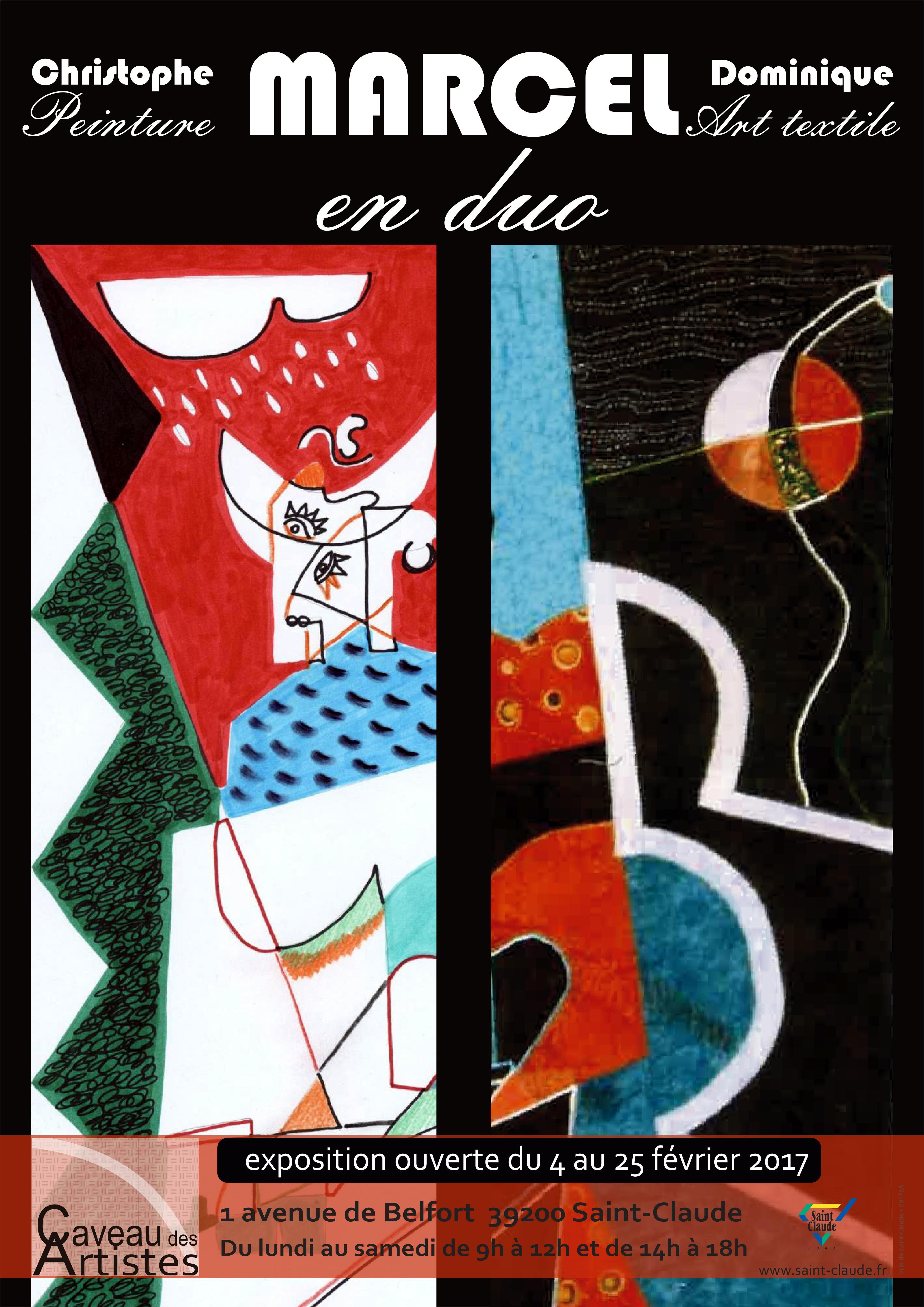 Expo D. & C. Marcel - Affiche