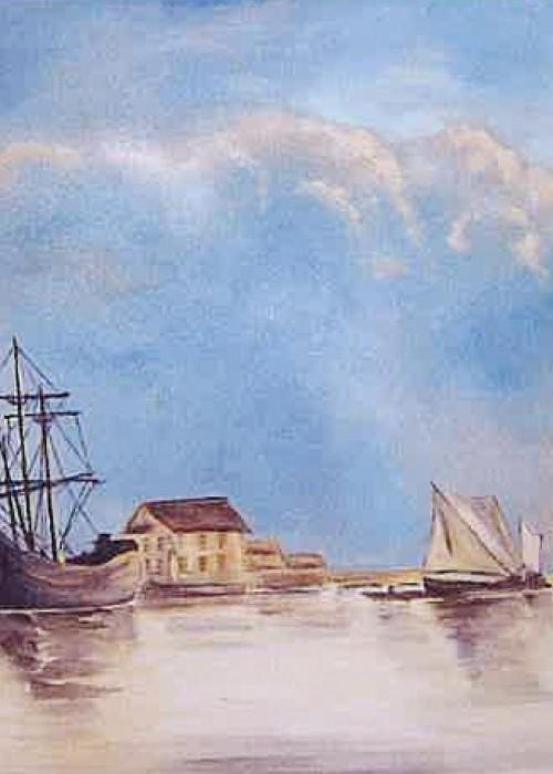 Vue de Dordrecht d'après Albert Cuyp - huile © A. Aymard