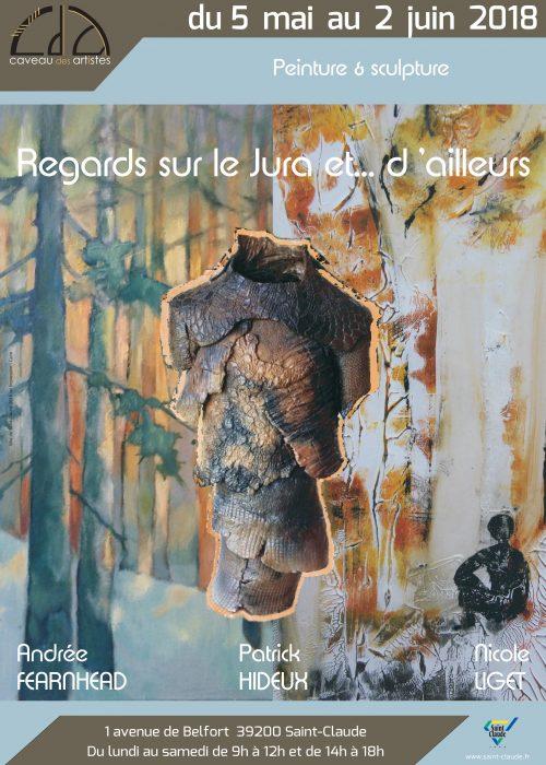 Expo A. Fearnhead, N. Liget & P. Hideux - Affiche