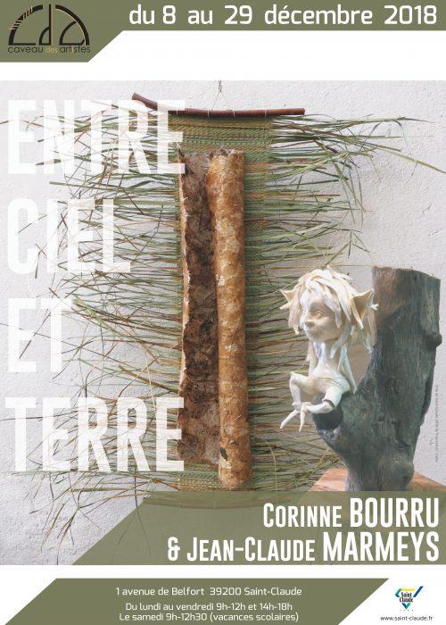 Expo C. Bourru & J-C. Marmeys - Affiche