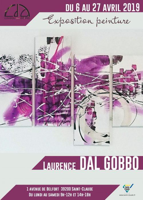 Expo Laurence Dal Gobbo - Affiche