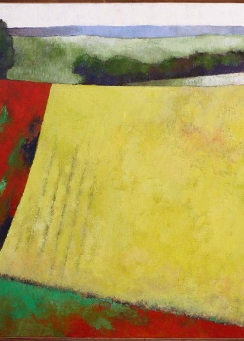 Dancing field ou paysage en jaune et rouge © R. Duraffourg