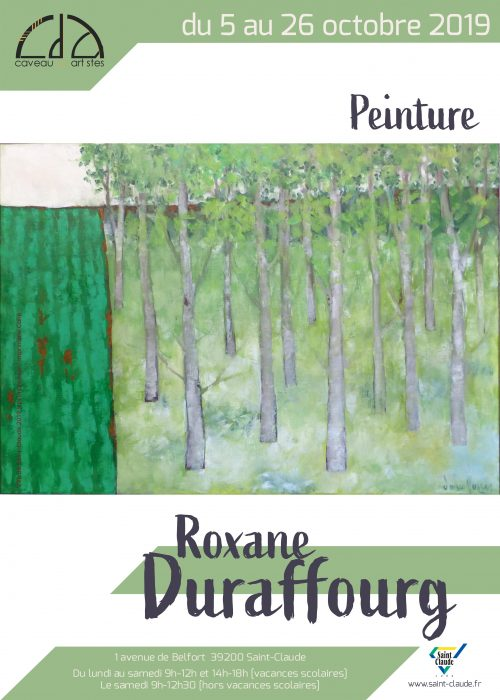 Expo Roxane Duraffourg - Affiche