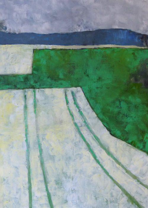Paysage aux prés blanc et vert © R. Duraffourg