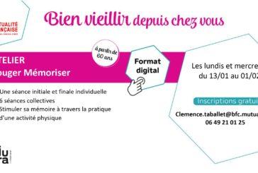 Mutualité Française BFC : action de prévention, activité physique en ligne