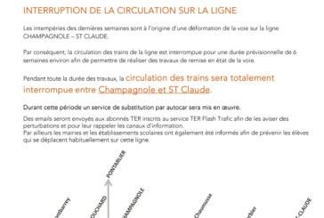 SNCF : interruption de la circulation sur la ligne Dole/Champagnole/Saint-Claude