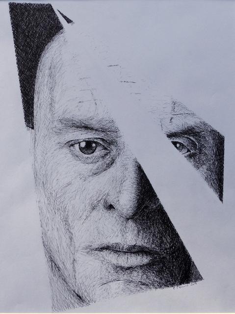 2019-33-Portrait anonyme-Encre Chine-40x50 © Pascal Mermet
